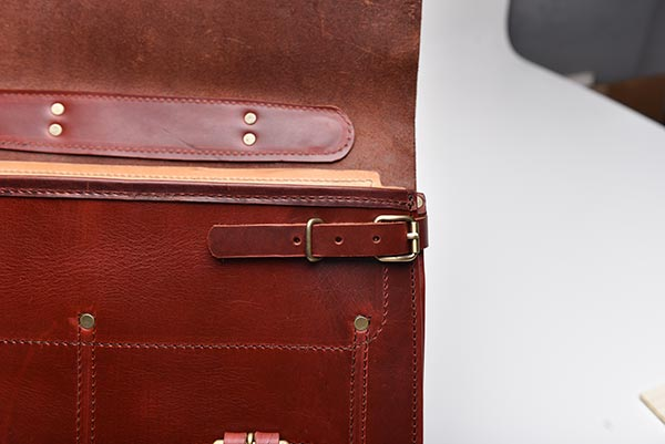 leather briefcase latch