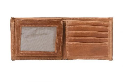 leather bifold wallet with window