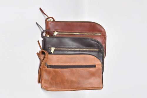 leather gadget bag