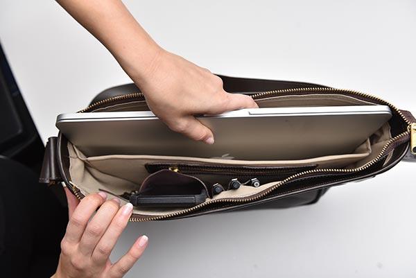 messenger flap bag internal