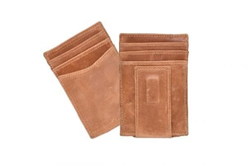 leather single wallet