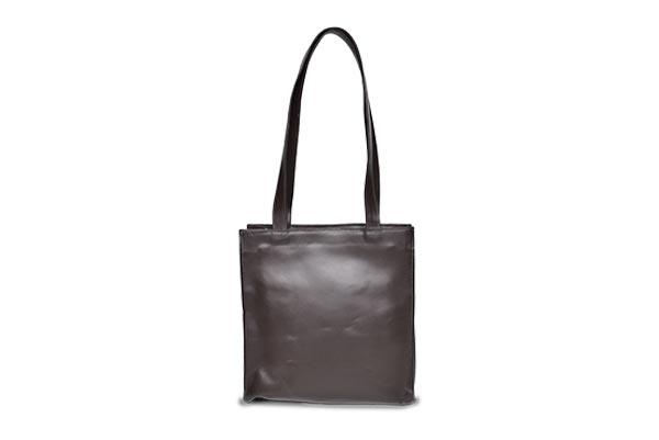 tall leather purse