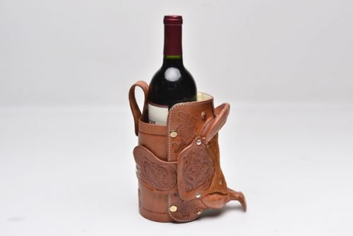 leather wine saddle
